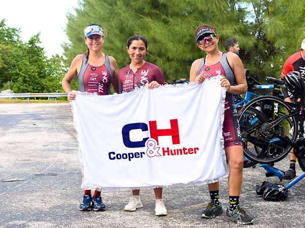 In addition to sponsoring the National Hockey League's Florida Panthers, Cooper&Hunter supports the Tri2One Triathletes!